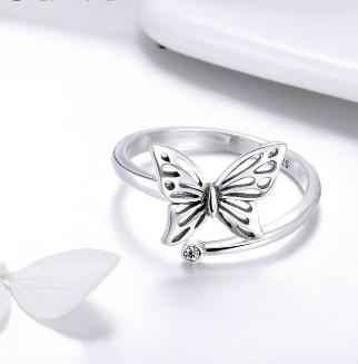 7 Pretty Wild Papillon .925 Argent Bague