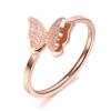 Bague papillon rose 2