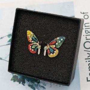 Boucle d'oreille aile papillon