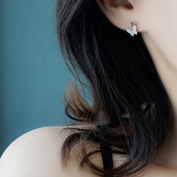 Boucles d'oreille papillon zirconium