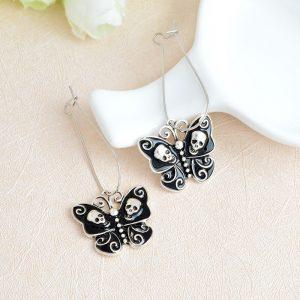 Boucles d'oreilles papillon noire