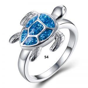 Bague tortue de mer 54
