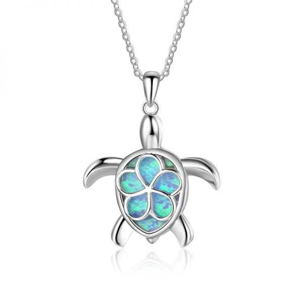 Beau pendentif tortue turquoise