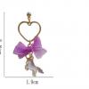 Boucle d'oreille licorne cœur 3