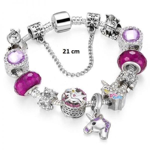 Bracelet breloque licorne 21 cm