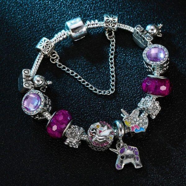 Bracelet breloque licorne