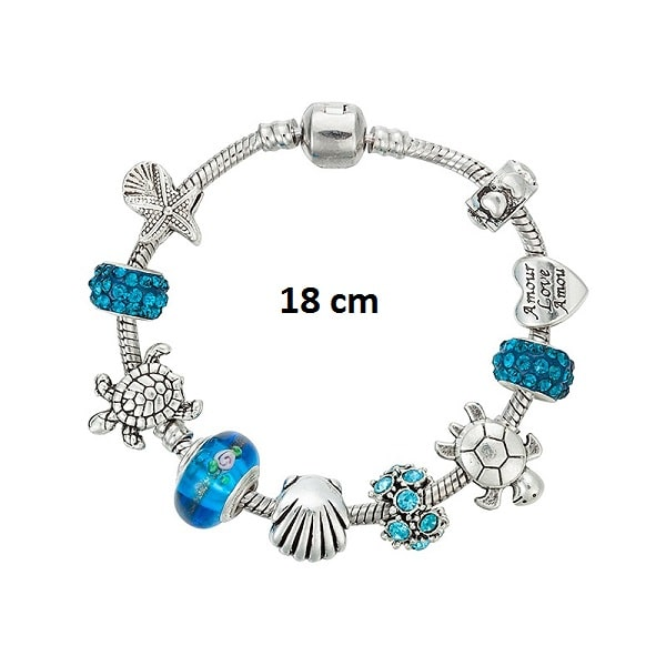 Bracelet tortue porte bonheur 18 cm