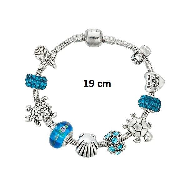 Bracelet tortue porte bonheur 19 cm