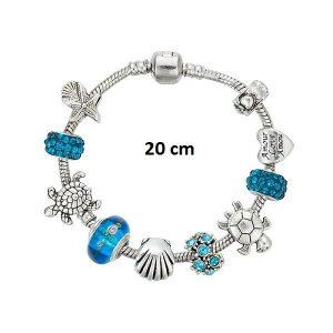 Bracelet tortue porte bonheur 20 cm