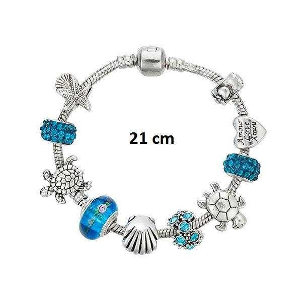 Bracelet tortue porte bonheur 21 cm