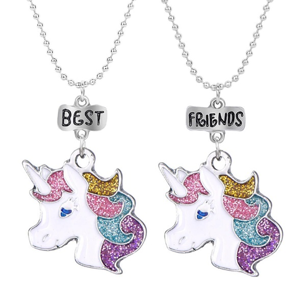 Collier amitié licorne best friends