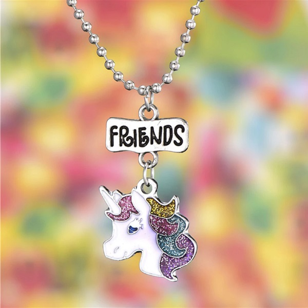 Collier amitié licorne friends
