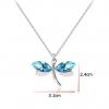 Collier bleu libellule 1