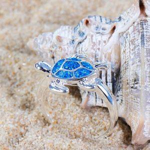Magnifique bague tortue de mer