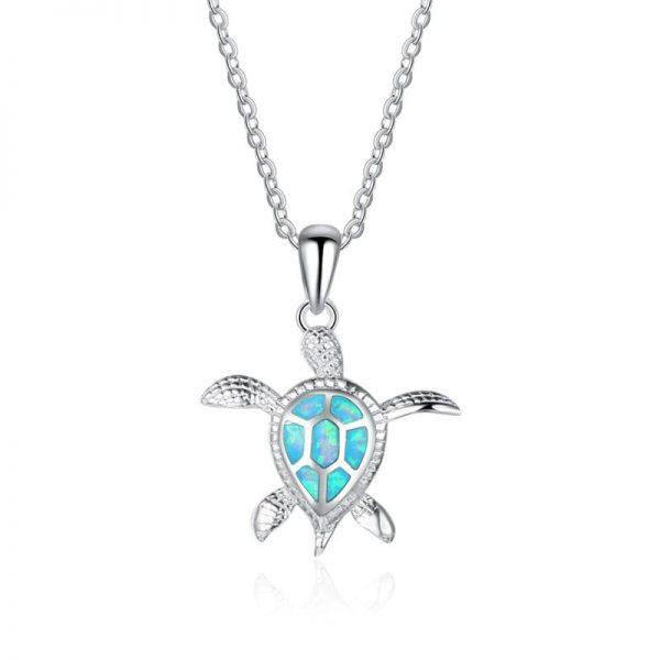 Pendentif tortue de mer turquoise