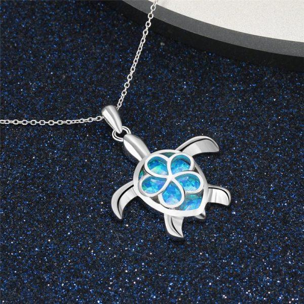 Pendentif tortue turquoise