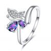 Bague anneau papillon 2