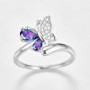 Bague anneau papillon 5