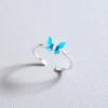Bague papillon bleu 1