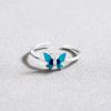 Bague papillon bleu 2