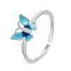 Bague papillon bleu 3
