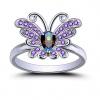 Bague papillon violette 1