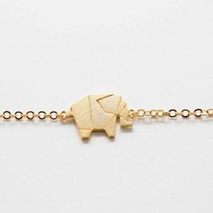 Bracelet éléphant femme Plaqué or