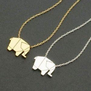 Collier éléphant pas cher doré et argenté
