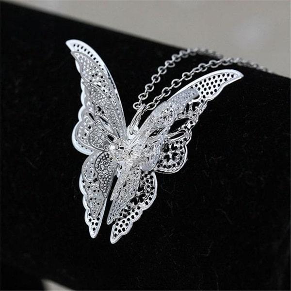 Collier gothique papillon pour tenue noir