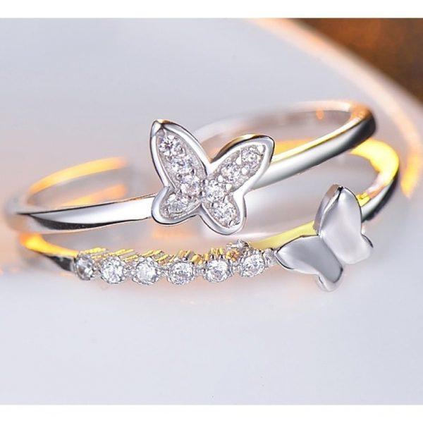 Bague papillon mariage