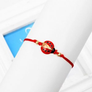 Bracelet cheville coccinelle, bijou animal