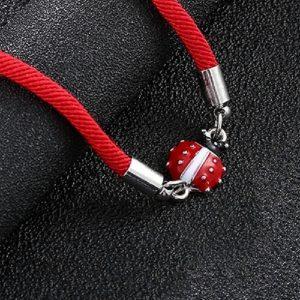 Bracelet coccinelle fille, rouge