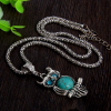 Collier hibou turquoise 1