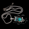 Collier hibou turquoise 3