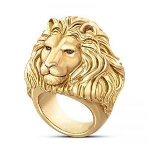 Bagie tête de lion or