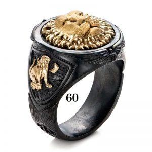 Bague lion homme 60
