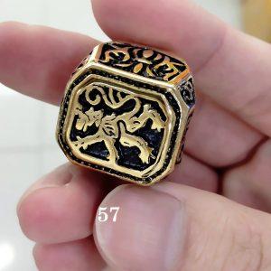 Bague or lion 57