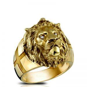 Bague tête de lion
