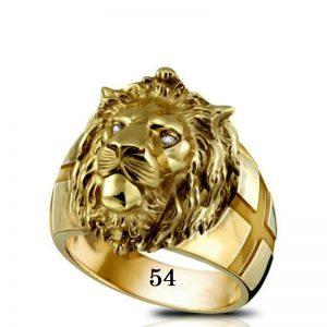 Bague tête de lion 54