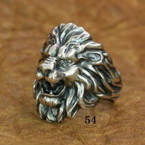 Bague tête de lion argent 54