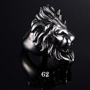 Chevalière homme tête de lion 62