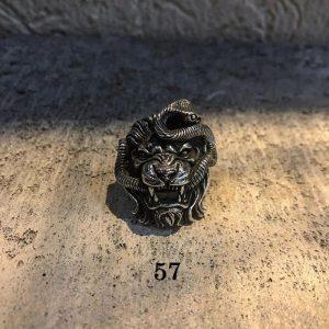 Chevalière lion homme 57