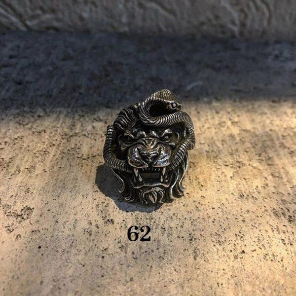 Chevalière lion homme 62