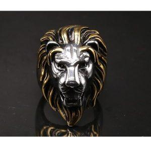 Tête de lion bague
