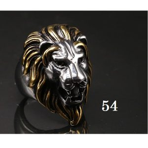Tête de lion bague 54