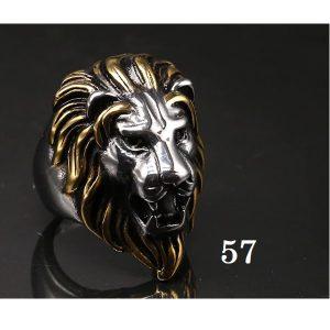 Tête de lion bague 57