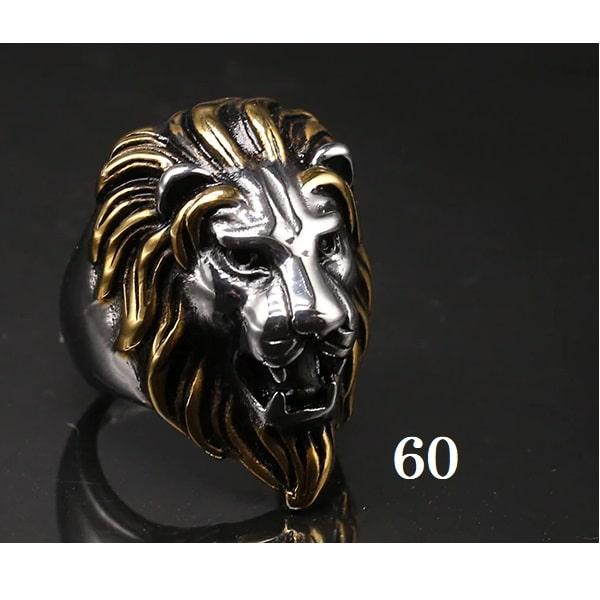 Tête de lion bague 60