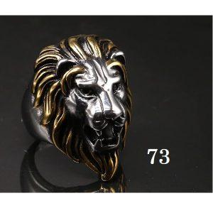 Tête de lion bague 73