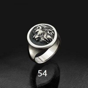 Bague homme tête de lion 54