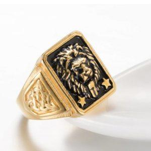 chevaliere tete lion or